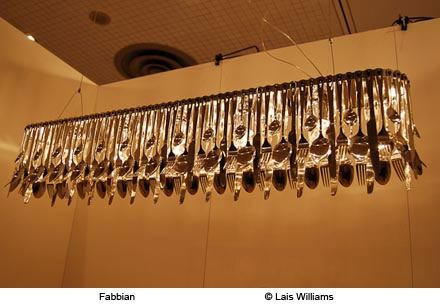 Hungry Flatware Chandelier by Fabbian