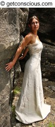 green wedding dress by GetConscious.com