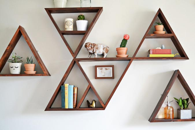 Nyiad design articles triangular shelves - Triangular bookshelf ...