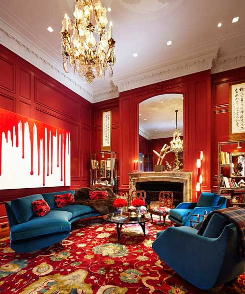 Study in Red; William T. Georgis, photo courtesy of Kips Bay Decorator Show House