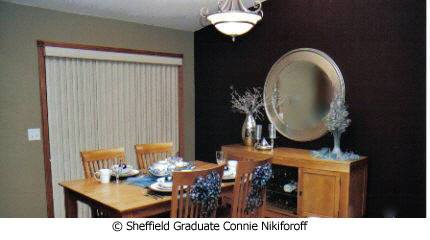 Connie Nikiforoff dining room