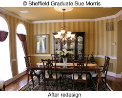 Sue Morris dining room interior design