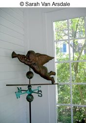 porch design with weathervane